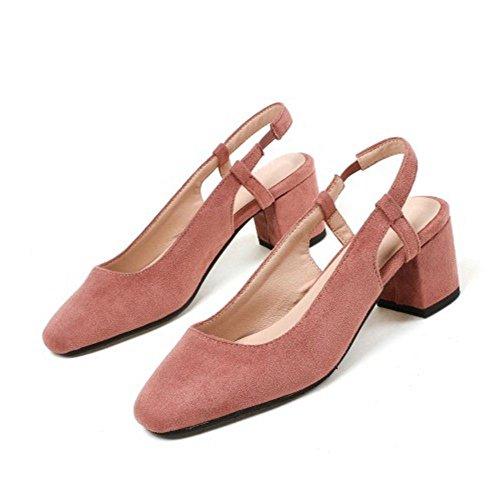 COOLCEPT Damen mit Absatz Pumps Slingback Pink