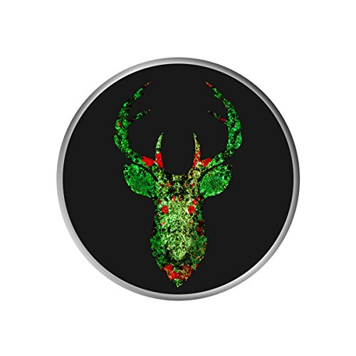 Elk Blossom - Expanding Stand Pop Grip Cell Phone Socket Multi-function Holder Collapsible Mounts For Smartphone Tablet Flat Gaming Device - Blossoms Green Elk Head Silhouette