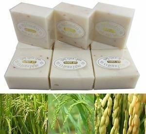 Rice Milk Lotion (12 Bars - Pure Milky Jasmine Rice Milk & Pearl Soap 65g per Bar)