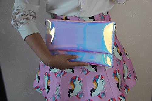 Bolsa Embrague Holograma M Mano Zarapack Piel Sintética Without De Para Bolso Hombro Mujer Chain fx0xqawZA8