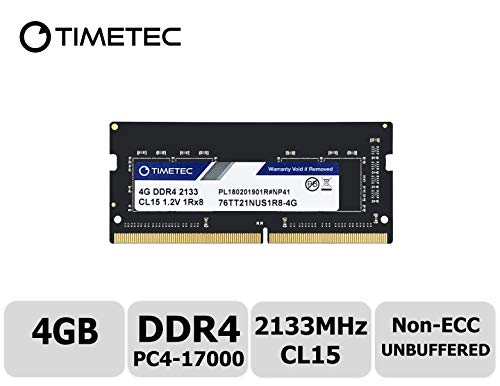 Timetec Hynix IC 4GB DDR4 2133MHz PC4-17000 Non ECC Unbuffered 1.2V CL15 1Rx8 Single Rank 260 Pin SODIMM Laptop Notebook Computer Memory Ram Module Upgrade (4GB) - Notebook Memory Pc