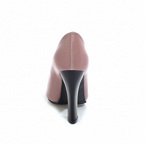 Mee Peep Sexy Femmes Escarpins Haut Talon Rose Partie Des Chaussures Toe ErEqw56n