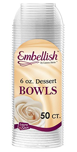 Embellish Hard Plastic 6 Ounce Clear Bowls 50 Count ()