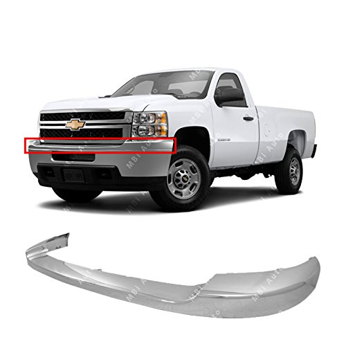 (MBI AUTO - Chrome, Plastic Front Upper Bumper for 2011-2014 Chevy Silverado 2500 3500 HD 11-14, GM1014106)