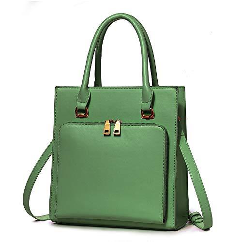 Brenice Women Solid Multifuction Handbag Work Crossbody Bag Multi-pocket Shoulder Bag Purse Green ()