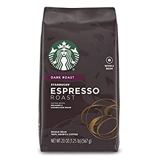 Starbucks Espresso Dark Roast Whole Bean Coffee, 20 Ounce (Pack of 1)