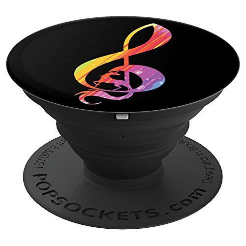 Clef - Musician - Marching Band - PopSockets Grip and Stand for Phones and Tablets ()