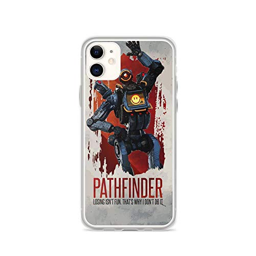 TEEMT Compatible with iPhone 11 Case Apex Legends Bangalore Game Player Pure Clear Phone Cases Cover