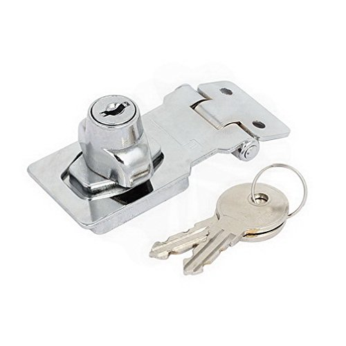 Latches 80mmx35mmx30mm Keyed Entry 90 Degree Rotation Safety Guard Hasp Lock Latch By Houseuse