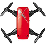 QWinOut S9 Mini Drone No Camera RC Helicopter Foldable Quadcopter Headless Mode Aircraft WiFi FPV Pocket Toys (Red)