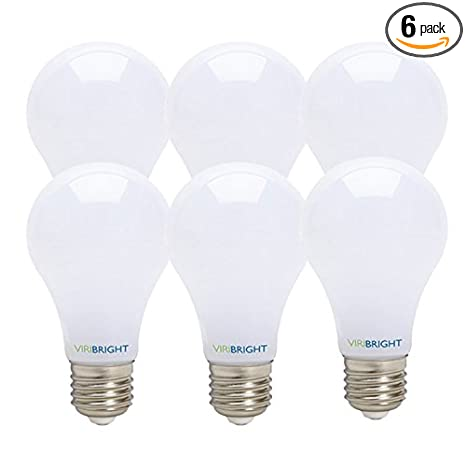 40 Watt equivalent (7W), A19 LED Light Bulb Energy Star Certified (6 Pack) Cool White 4000K, E26 Medium Base, Dimmable, General Purpose Light Bulb ...