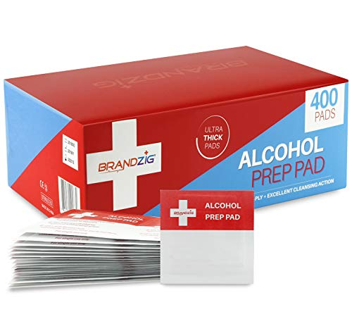 Brandzig Sterile Alcohol Prep Pads (400-Pack)