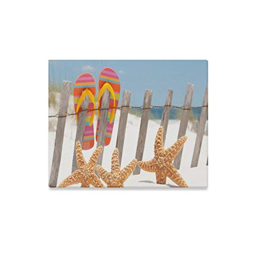 JTMOVING Wall Art Painting Flip Flops Hanging
