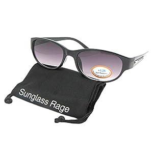Small Rounded Retro Reader Sunglasses For Women R64 (Black Frame-Gray Lenses, 2.00)
