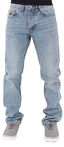 (Rocawear Mens Boys Double R Star Relaxed Fit Hip Hop Jeans Is Money G Time SWB (W34 - L34, Stonewash)