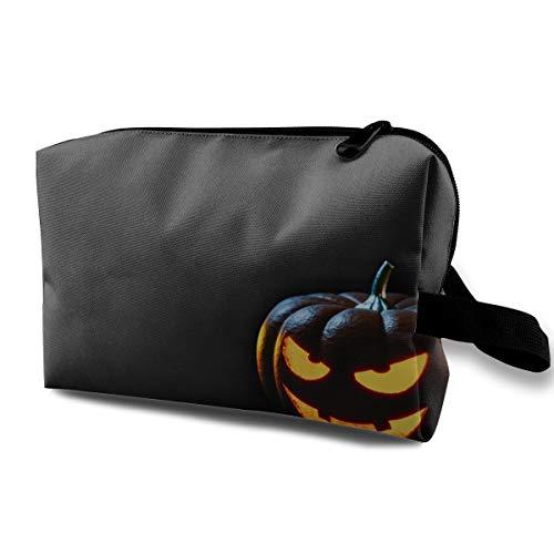 Halloween Creepy Smile Pumpkin Lantern Multi-function Travel Makeup