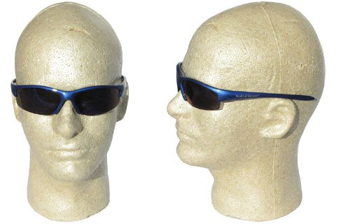 - Jackson 3016311 KC 21301 Safety Glasses, Smith & Wesson Equalizer, Blue Frame, Blue Mirror Lens, 1 Pair