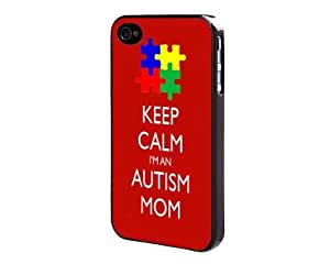 Keep Calm I'm An Autism Mom iPhone 4 4s Back Case