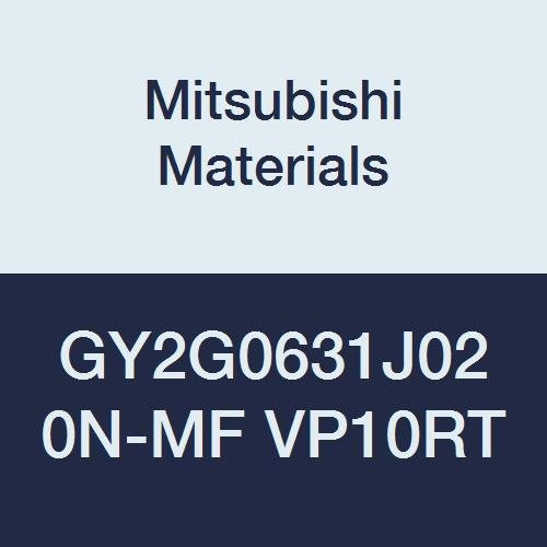 Mitsubishi Materials GY2G0631J020N-MF VP10RT Carbide GY Series Grooving Insert J Seat Pack of 10 Coated Ground Peripheral 0.248 Grooving Width 0.008 Corner Radius Neutral Hand