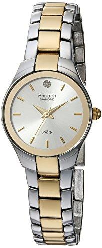 Armitron Women's 75/5199SVTT Diamond-Accented Dial Two-Tone Bracelet Watch