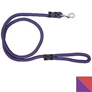 PetSutra Durable Rope Training Leash for Small, Medium & Large Sized Dogs, with Strong Brass Hook Multi Size & Multi Colored (15MM, Purple)