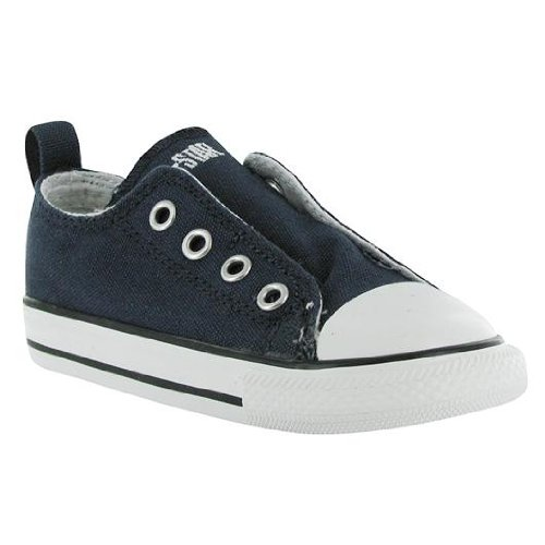 Converse Boys Infants' Chuck Taylor All Star Low Top Slip On Sneaker, Athletic Navy, 3 M US ()