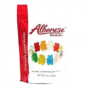 Albanese Sugar Free Gummi Bears 9 oz Each (3 Items Per Order, not per case)