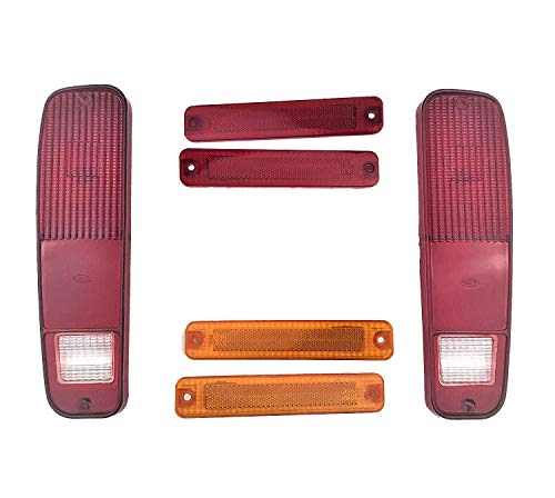 A-Team Performance 6-Piece Tail Light Housings and Side Fender Kit Compatible with 1973-79 Ford F150 F250 Truck 1978-79 Bronco ()