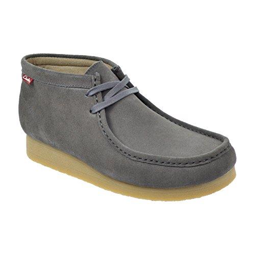 - CLARKS Stinson HI Men's Boots Charcoal Suede 26107664 (8.5 D(M) US)