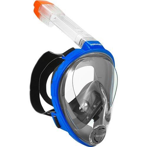 HEAD Sea Vu Dry Full Face Snorkeling Mask, Large/X Large, Blue