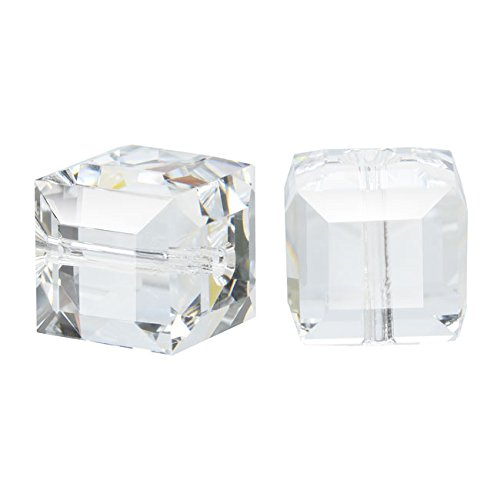 rystal #5601 8mm Cube Beads Crystal (4 Beads) (8mm 5601 Cube Swarovski Crystals)