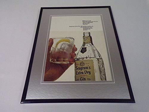 1966 Seagram's Gin Framed 11x14 ORIGINAL Vintage Advertisement