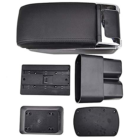 Dual-Layer Black Leather Arm Rest For NV200 Evalia 2010-2017 For City Express Centre Console Storage Box Armrest