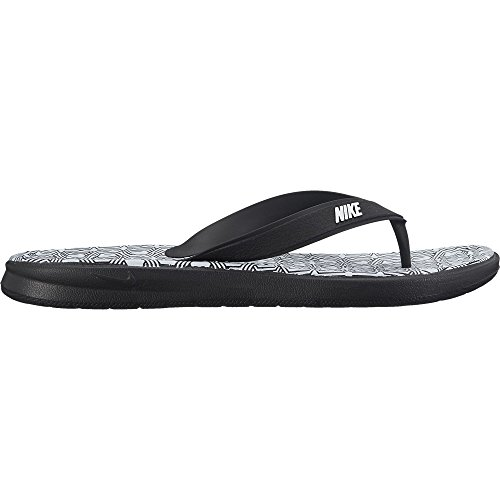 NIKE Women's Solay Thong Sandal Black/White Size 8 M US