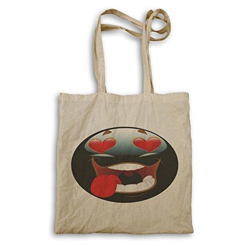 Smiley Case In Love Face Novità Vintage Divertente Tote Bag A274r