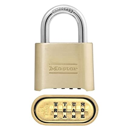 e85c8e7793bc Master Lock Padlock, Set Your Own Letter Combination Lock, 2 in. Wide,  175DWD, 1- inch
