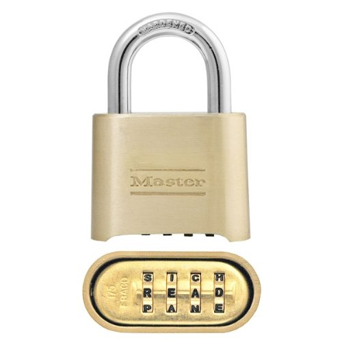 (Master Lock Padlock, Set Your Own Letter Combination Lock, 2 in. Wide, 175DWD, 1-inch)