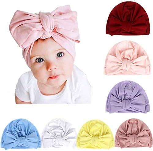Simoda 78 stuks kinderen baby Boheemse tulband hoofdbanden super zacht katoen leuke tulband knot caps