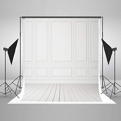 Kate 5x7ft White Wooden Wall Photography Backdrops Vintage Texture Wood Door Background Portrait Backdrop for Photo -