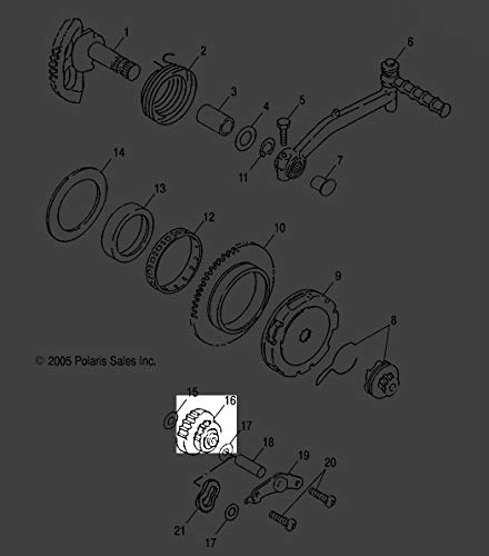 Polaris 2001-2006 Scrambler 50 Predator 50 Gear Idle 0450177 New Oem