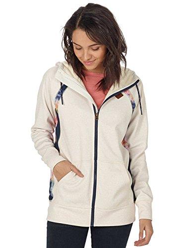 Burton Women's Scoop Hoodie Bonded Fleece Size Large Canvas Heather
