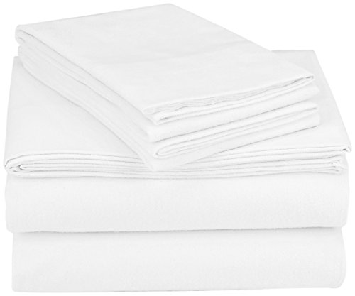 Coyuchi Cloud Brushed Organic Flannel Sheet Set, Queen, Alpine White - Coyuchi Organic Cotton Flannel