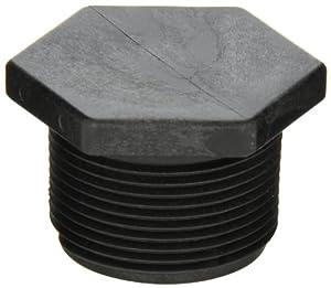 "Banjo PLUG125 Polypropylene Pipe Fitting, Plug, Schedule 80, 1-1/4"" NPT Male"