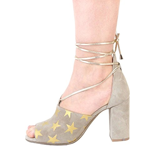 Made in Italia - SIMONA Sandalias De Vestir De Encaje Para Mujer Tacón: 9 cm