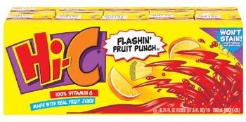 Hi-C Flashin' Fruit Punch Fruit Drink Aseptic Pack 10 (Hic Fruit)
