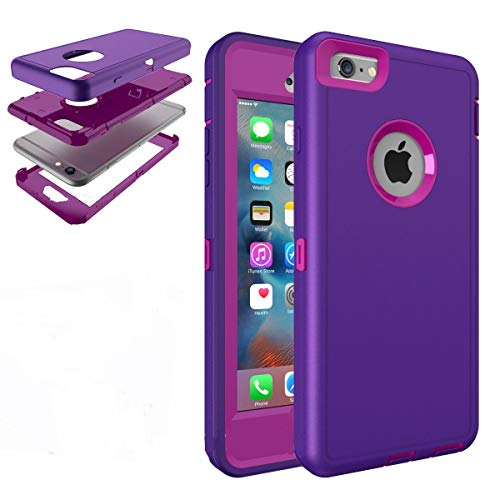 Hard Back Shockproof Slim Hybrid Phone Case Cover iPhone 5s 6 6s Plus Protector (Light Purple, iPhone SE)