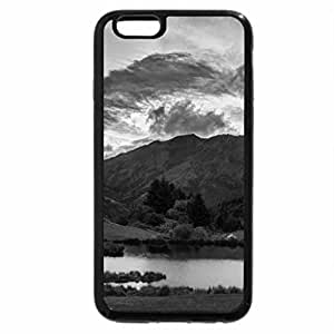 iPhone 6S Case, iPhone 6 Case (Black & White) - small lake between mountains