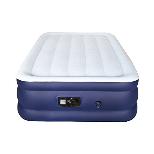 Air Mattress Built-in Electric Pump, Sable Upgraded Raised Blow up Inflatable Airbed a Storage Bag, Height 18 inches, Twin Size by Sable