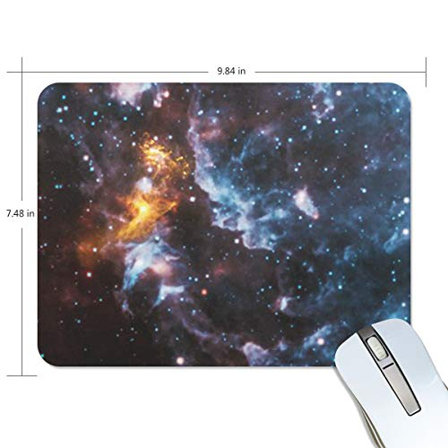 (Funny Mouse Pad mice pad Personalized Illusions in The Cosmic Clouds Rectangle Shape Nonslip Rubber Backing for Office Computer Work)