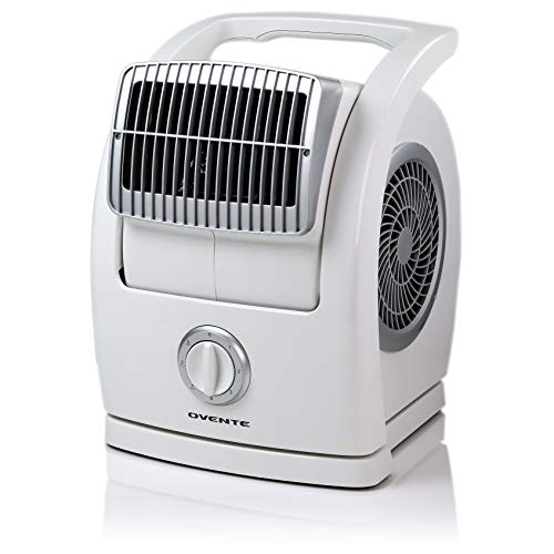 Ovente BF74W Cool Breeze Pivoting Blower, White Electric-Household-Floor-Fans,